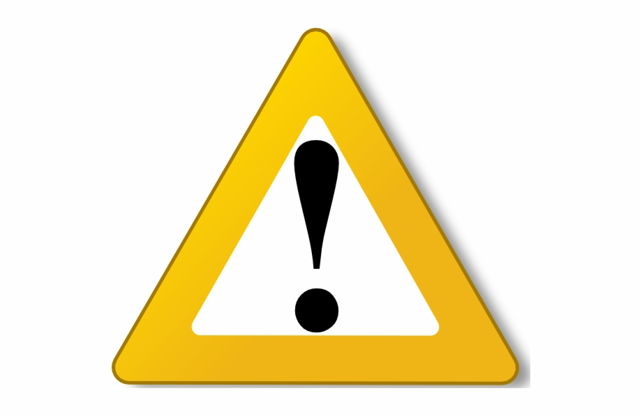 Caution Triangle Symbol.
