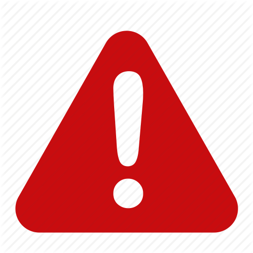 Red Warning Icon #227819.