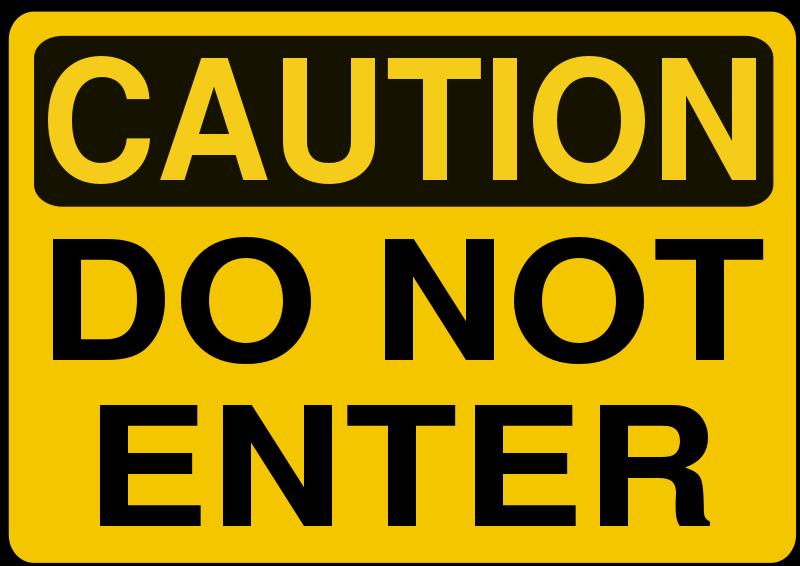 Free Clipart: Caution.