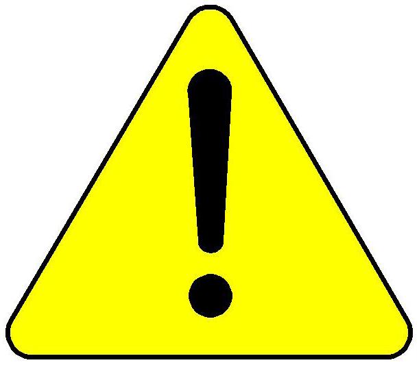 Warning Caution Clip Art free image.