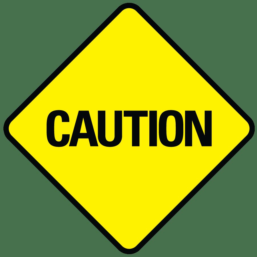Caution Sign transparent PNG.