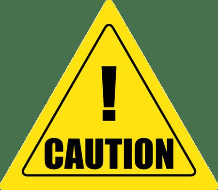Triangular Caution Sign transparent PNG.