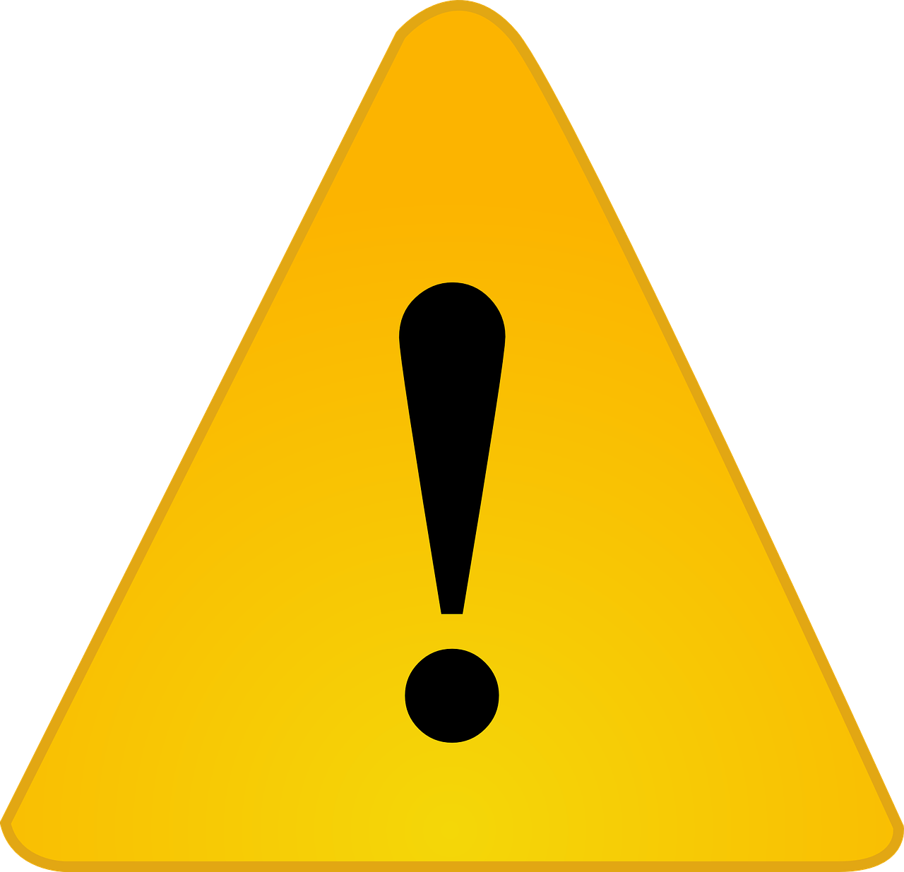Warning Exclamation Caution Sign PNG.
