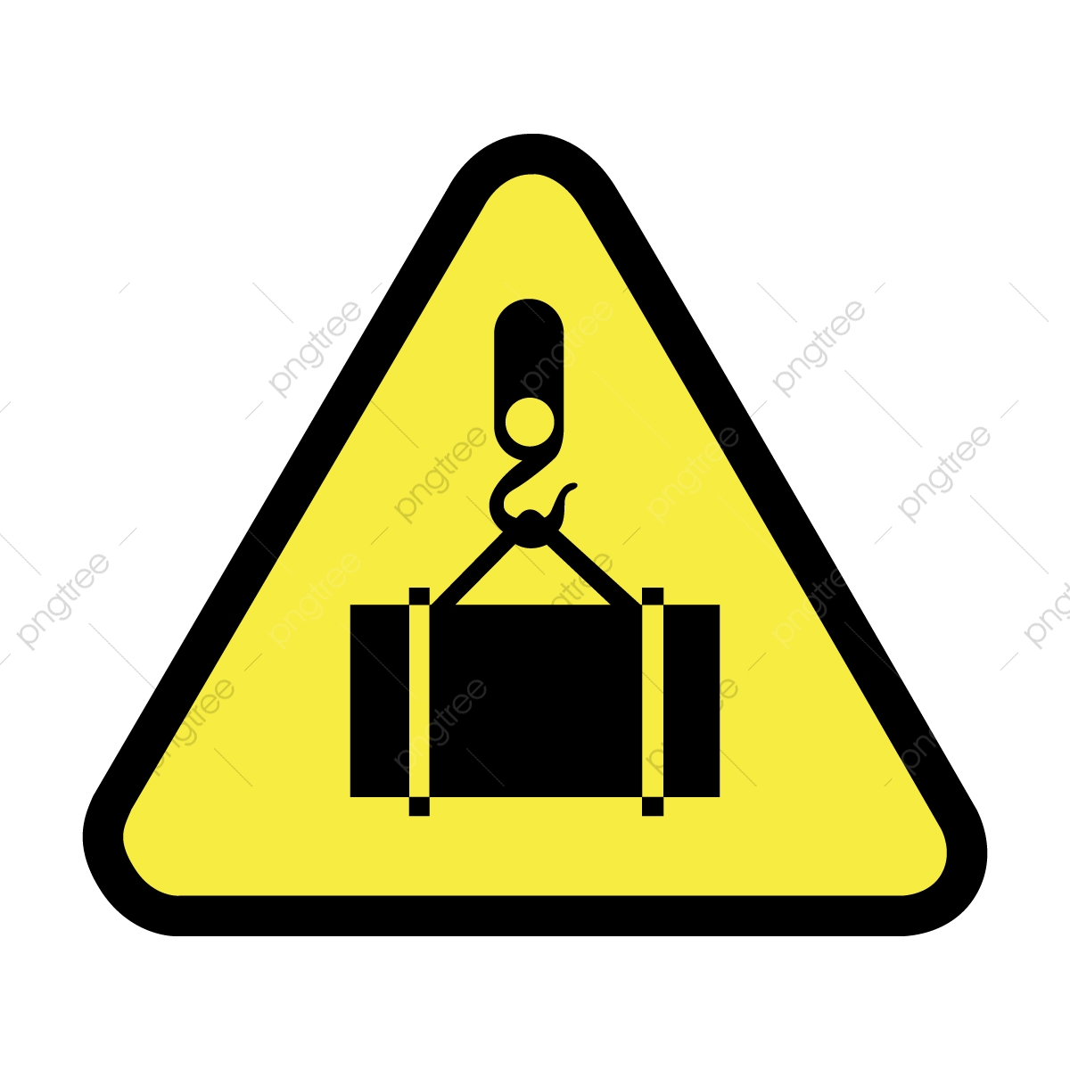 Heavy Load Caution Sign, Sign, Lifting, Caution PNG and Vector with.