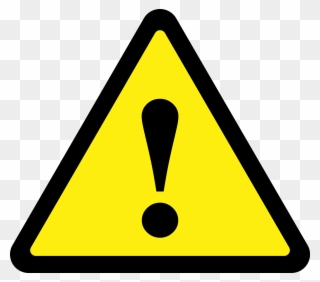 Free PNG Caution Symbol Clip Art Download.