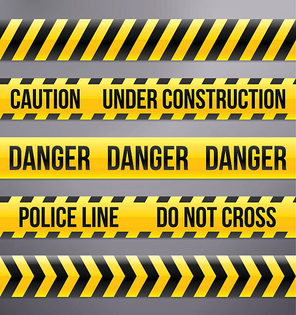 Best Caution Tape Illustrations, Royalty.