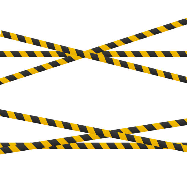 Best Caution Tape Cartoons Illustrations, Royalty.