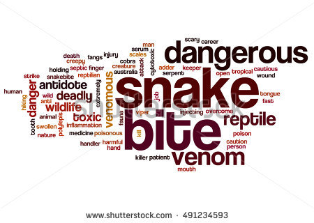 Snakebite Stock Images, Royalty.