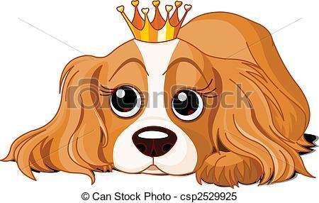 Cavalier king charles spaniel clipart.