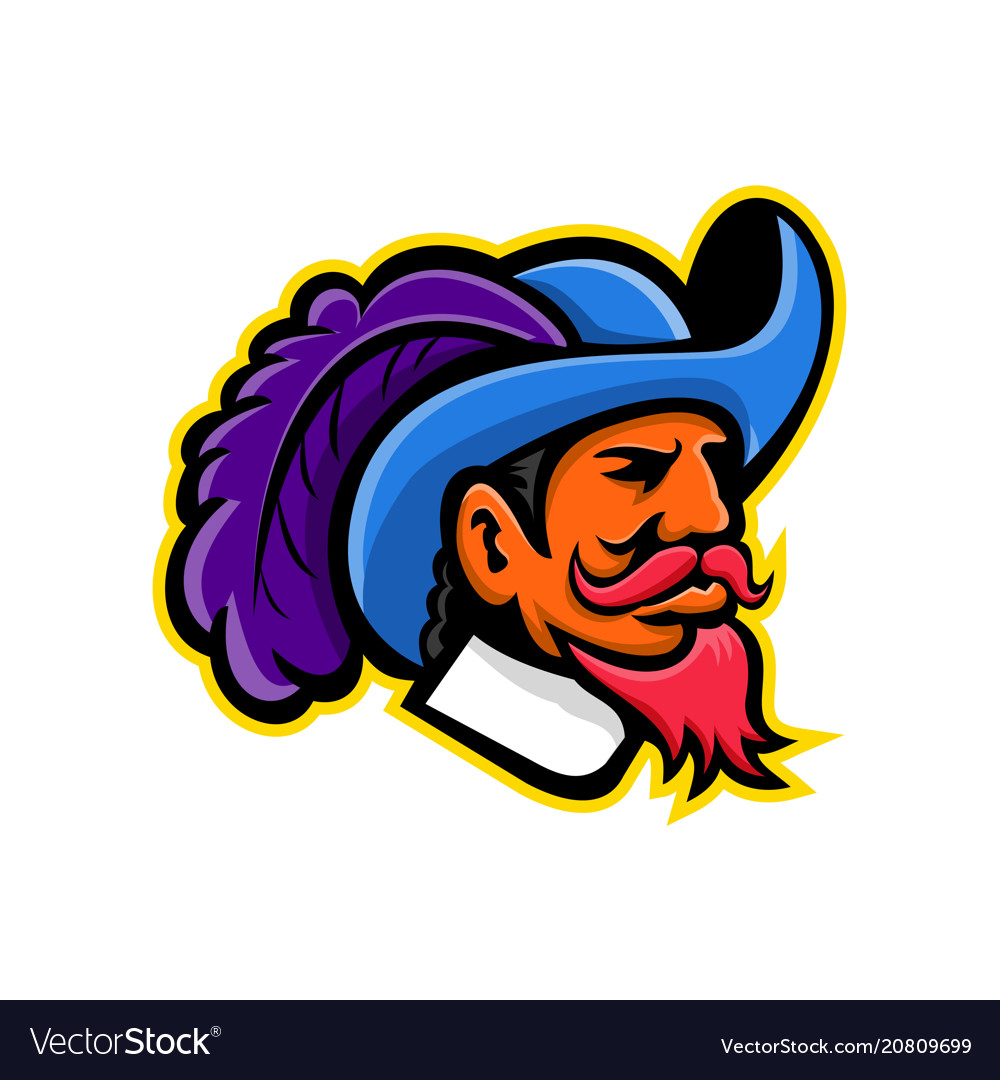 Cavalier head mascot.