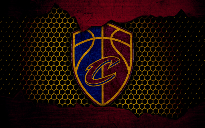 Download wallpapers Cleveland Cavaliers, 4k, new logo, NBA.