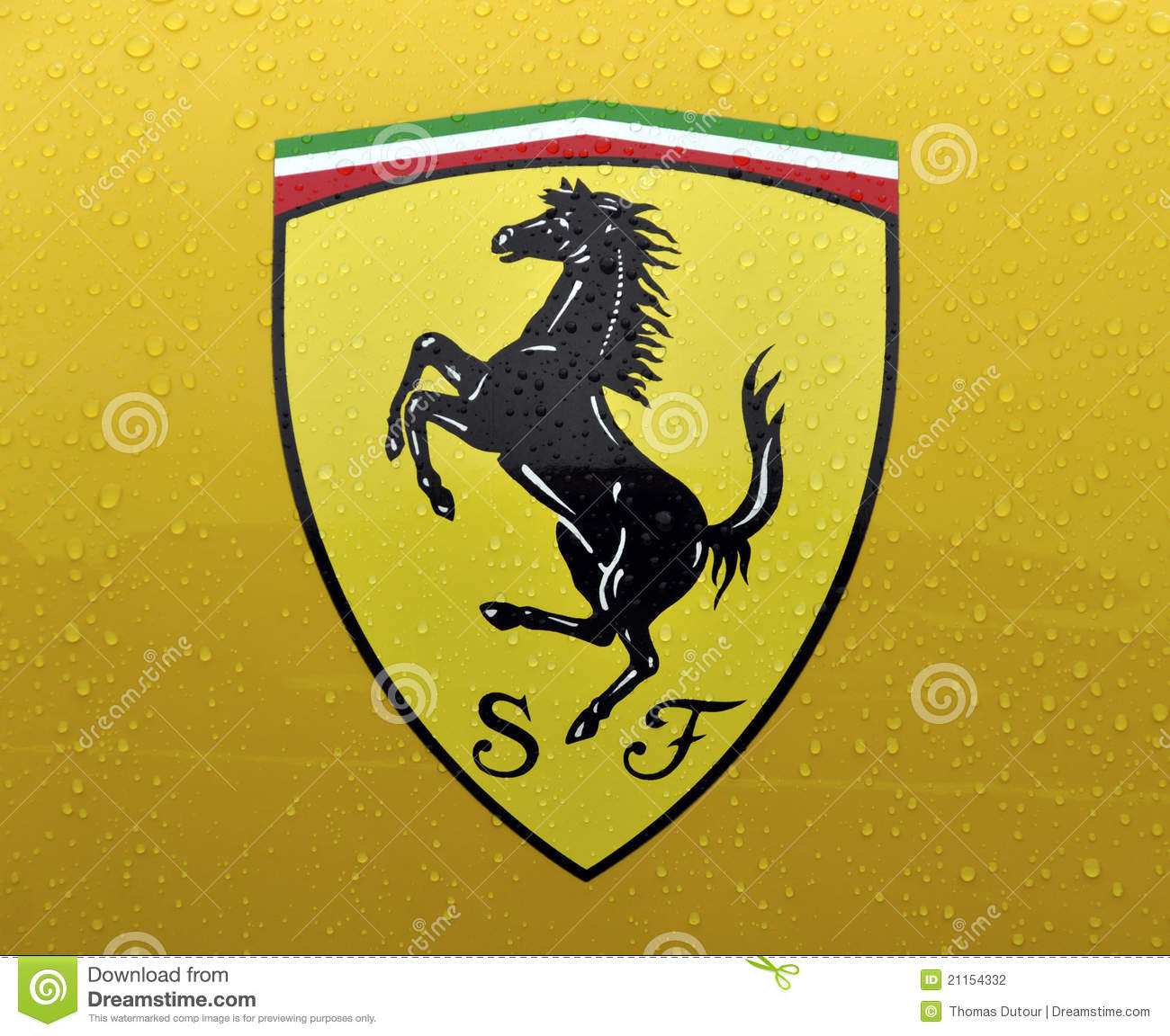 The Cavallino Rampante, Symbol Of Ferrari Editorial Photography.