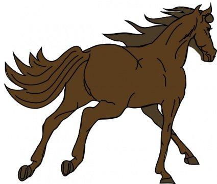 Clipart e gráficos vetoriais de Cavalo gratuitos.