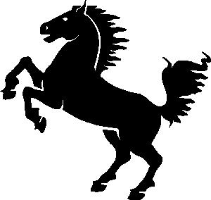 Black Horse clip art.