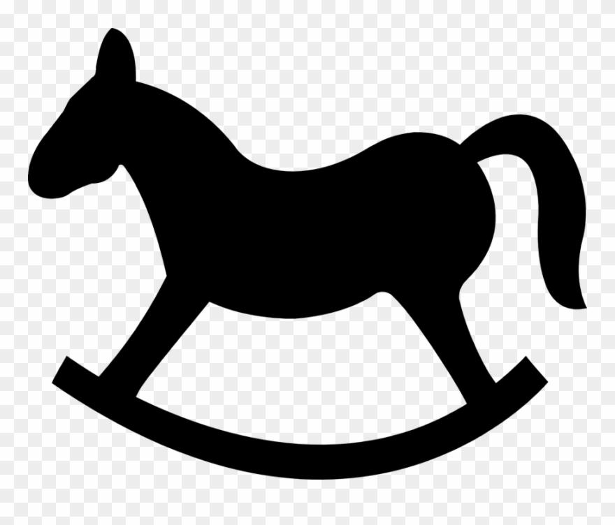 Rocking Horse Silhouette 101 Clip Art.