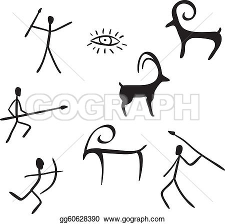 Cave Paintings Clip Art.