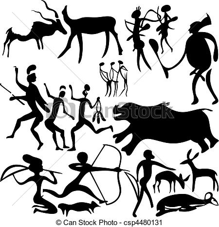 Cave art clipart - Clipground