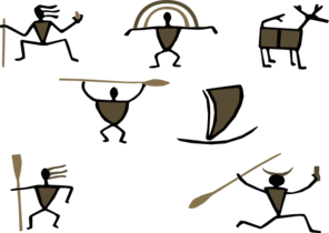 Cave paintings clipart.
