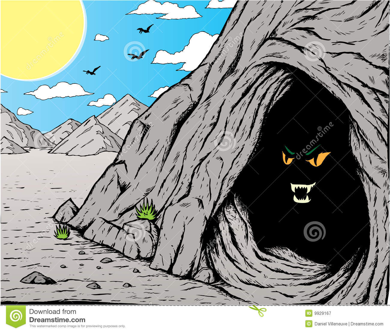 Cave Clipart Page 1.