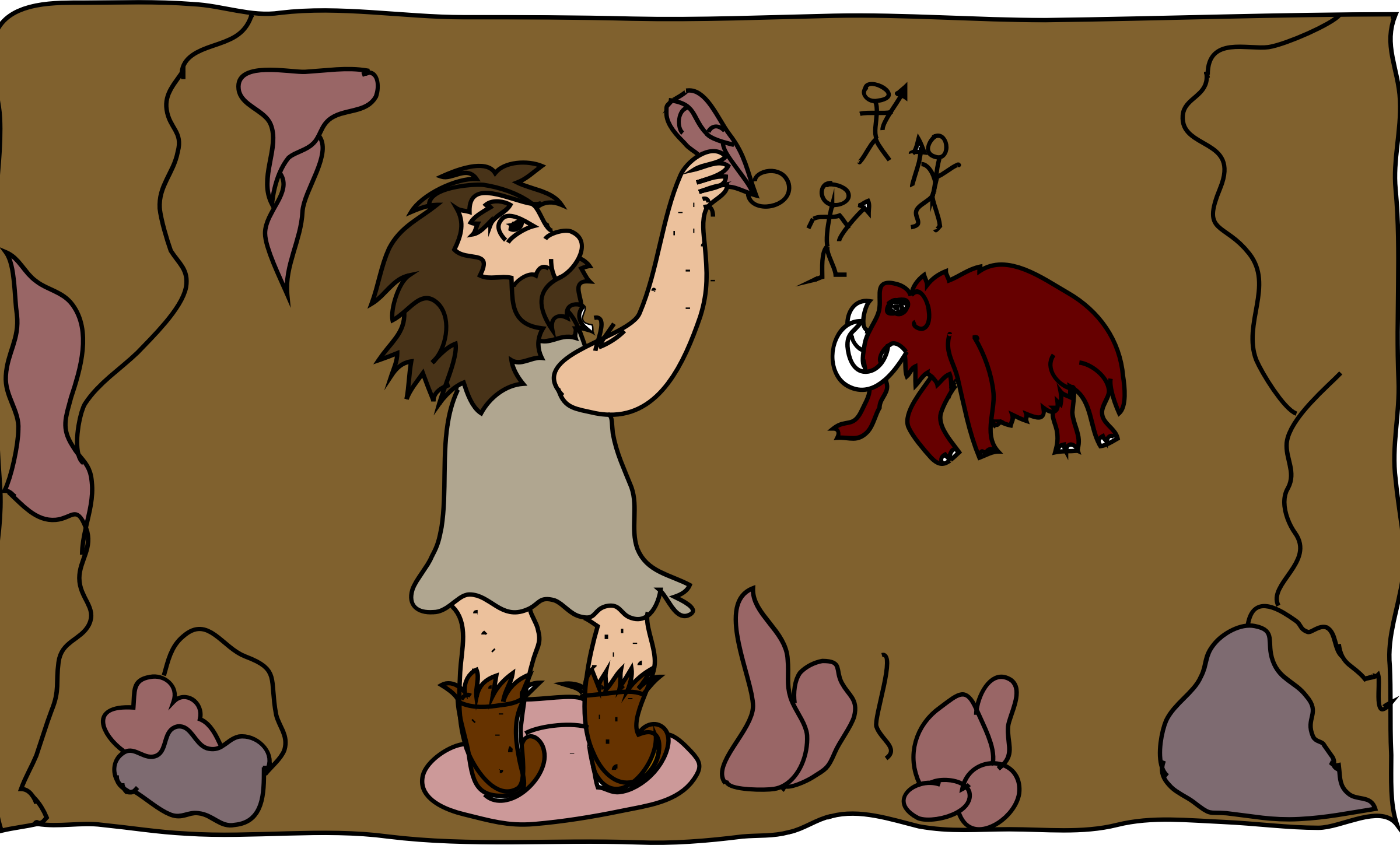Stone Age Cave Clipart.