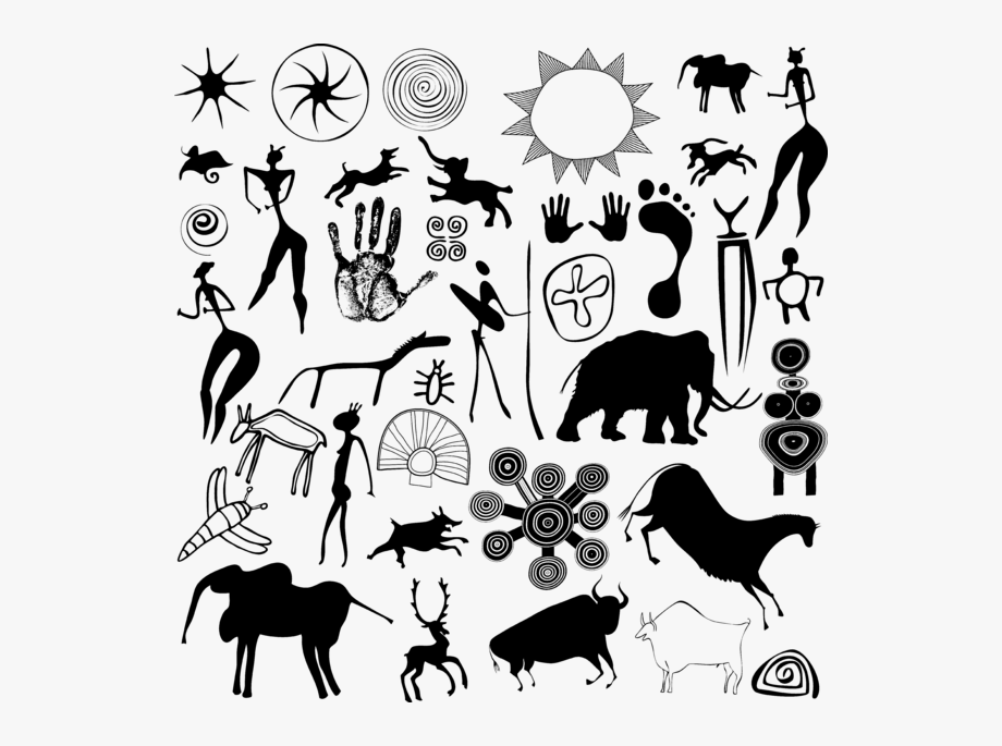 Cave Drawing Cave Art Symbols , Transparent Cartoon, Free.