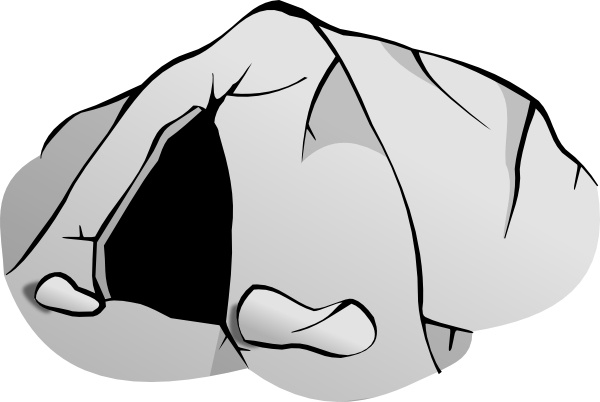 Cave Entrance clip art Free vector in Open office drawing svg.