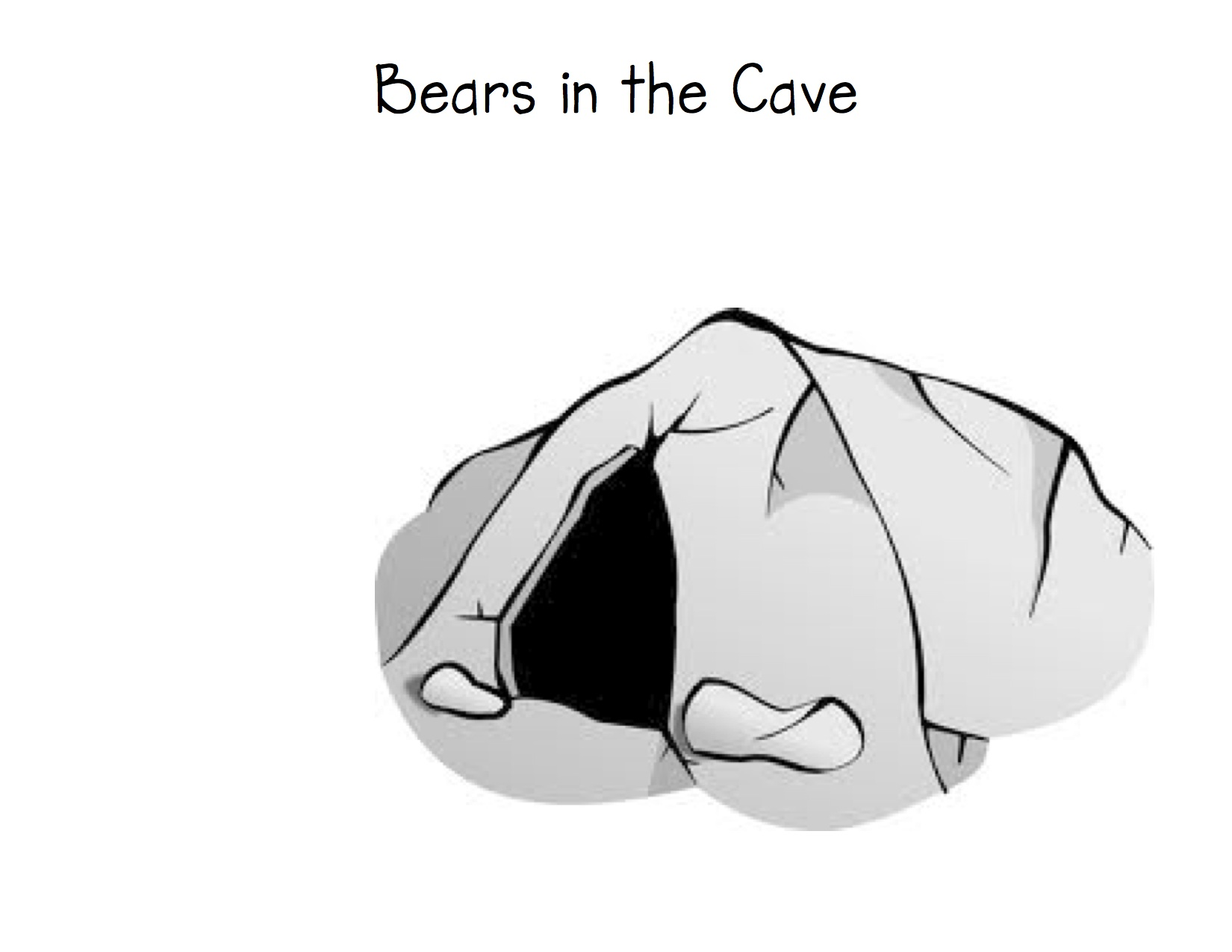 Clipart of open cave entrance.