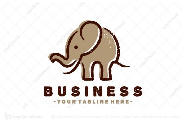 Exclusive Logo 160529, Cave Painting Elephant Logo.