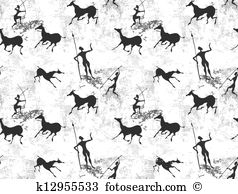 Cave painting Clip Art Vector Graphics. 271 cave painting EPS.