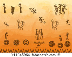 Cave paintings Clip Art EPS Images. 242 cave paintings clipart.