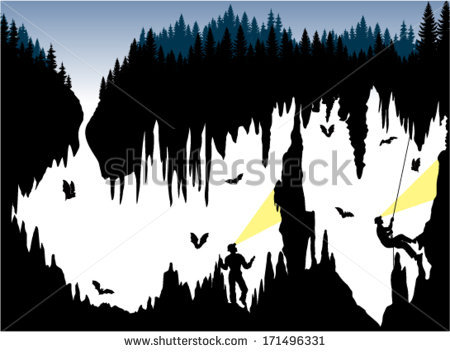 Bat Cave Stock Images, Royalty.