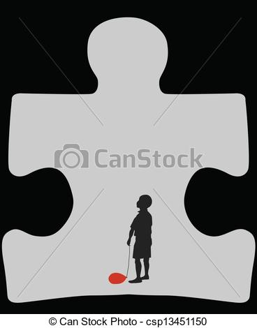 Clipart Vector of Autism cave.