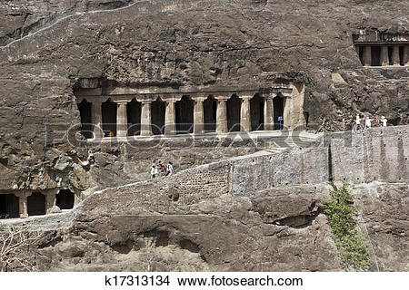 Stock Photo of Ajanta Cave Temples k17313134.