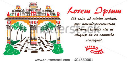 Hinduism Temple Gate Shape Clip Art Stock Vector 402220441.