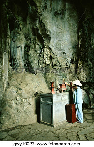 Stock Photo of Cave temple, Marble Mountain, Danag, Vietnam.