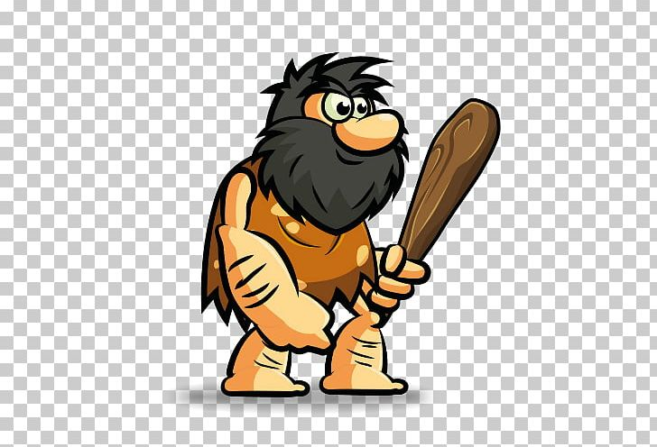 Hungry Caveman Neolithic Caveman Hunter PNG, Clipart, Beak.