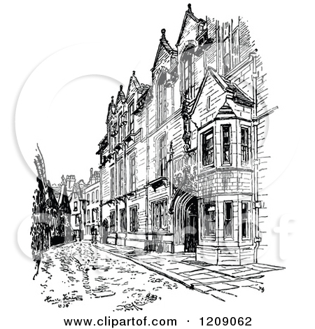 Clipart of Vintage Black and White Cavendish Laboratory at.