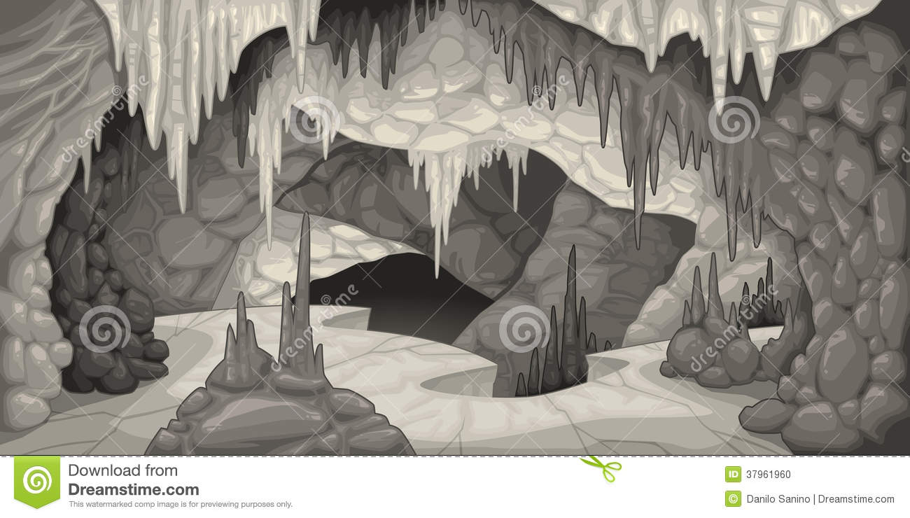 Inside a cave clipart.