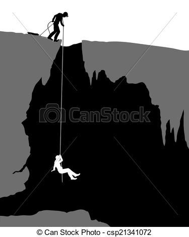 Vectors Illustration of Cavers.