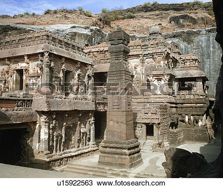 Stock Photo of Ellora Caves in India u15922563.