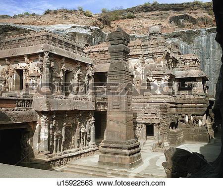 Stock Photo of Ellora Caves in India u15922563.