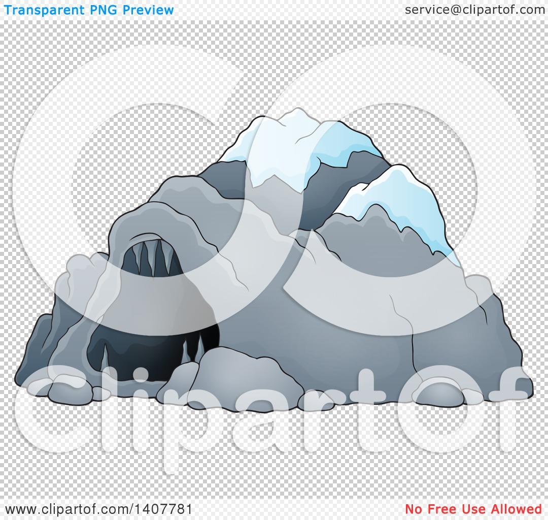 Clipart of a Cave with Snow.