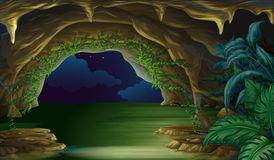 Underwater cave clipart.