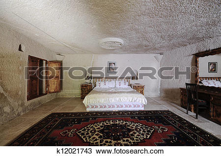 Stock Photo of Cave hotel room k12021743.