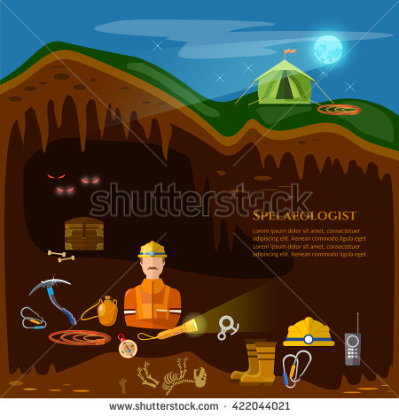 Caver Stock Photos, Royalty.