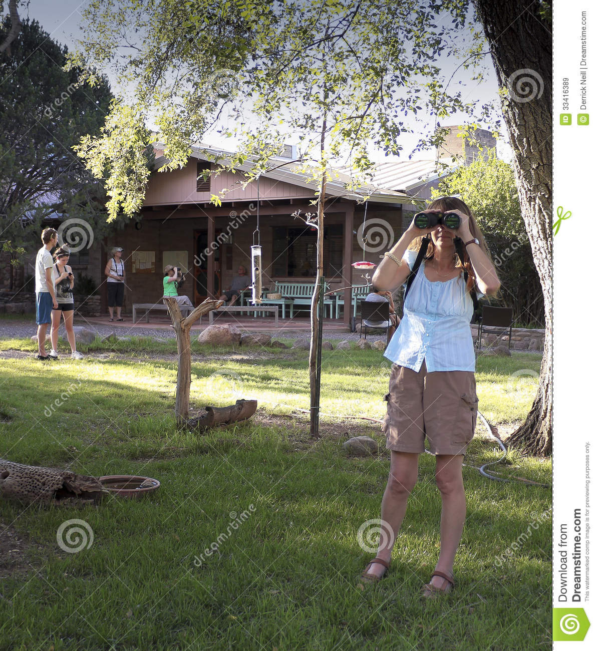 A Cave Creek Ranch Scene, Portal, Arizona Editorial Stock Image.