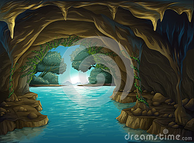Water cave clipart #3