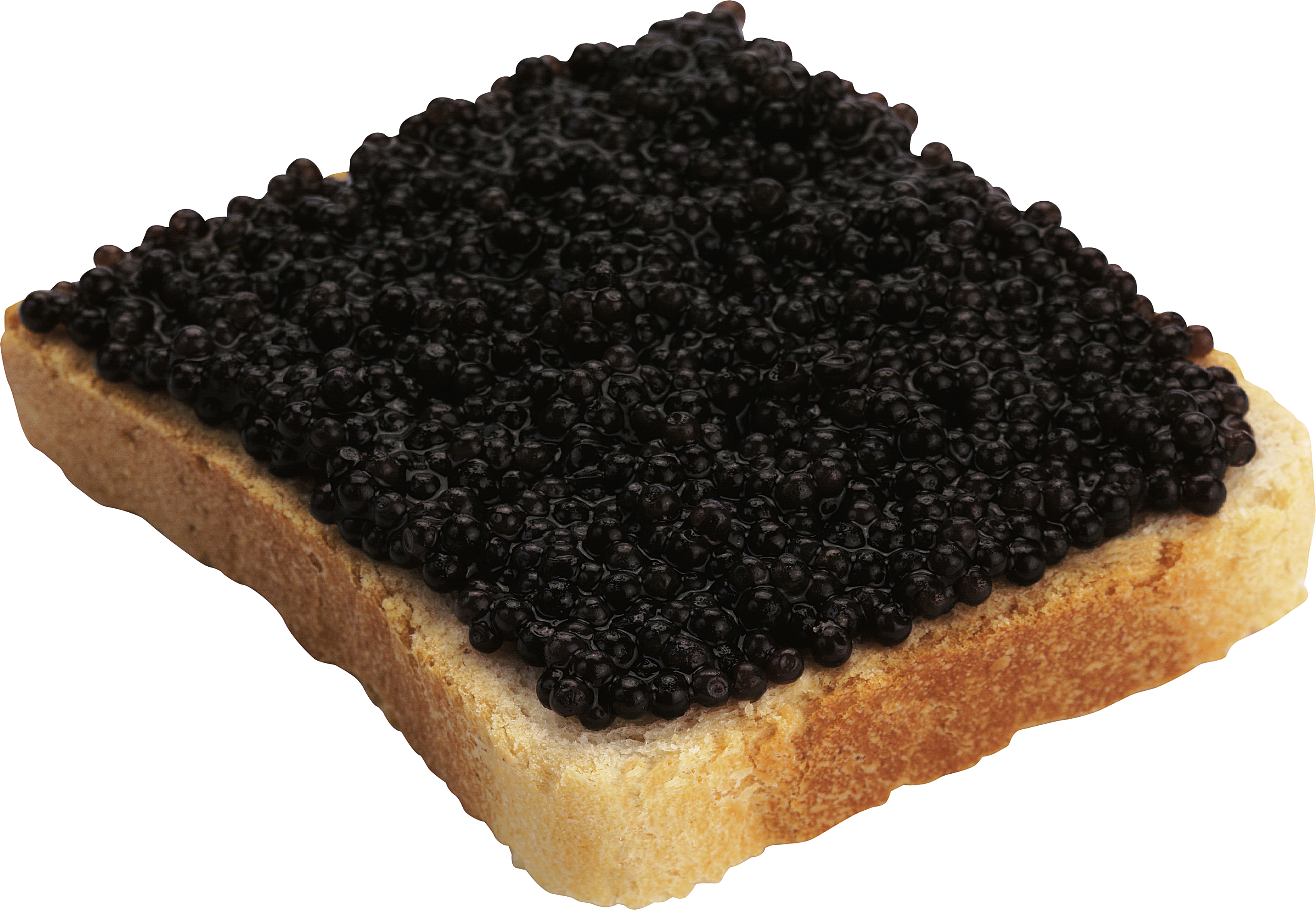 Caviar Bread PNG Image.