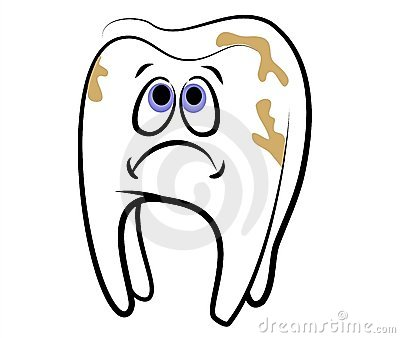 Clip Art Mouth With Cavities Clipart.
