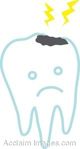 Clip Art of a Tooth With a Cavity.